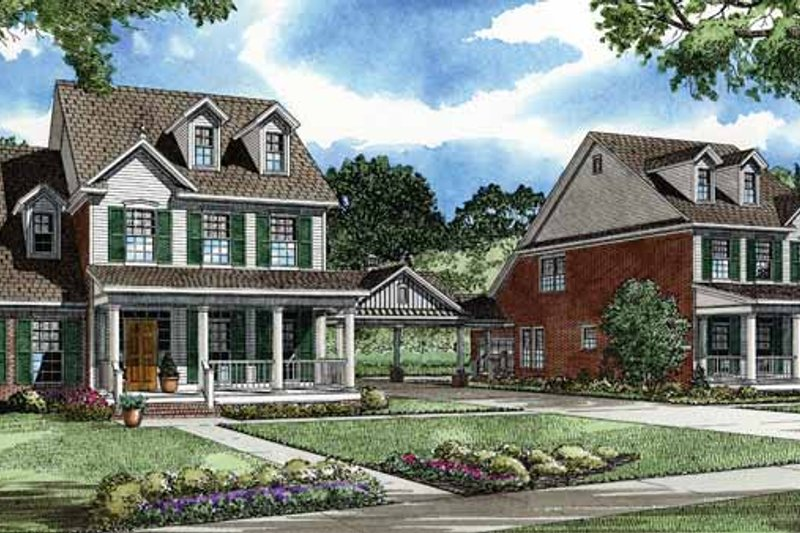 Country Exterior - Front Elevation Plan #17-2904 - Houseplans.com