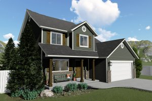 Dream House Plan - Traditional Exterior - Front Elevation Plan #1060-4
