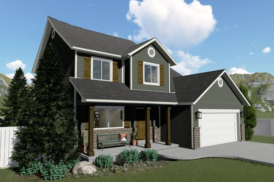 Traditional Exterior - Front Elevation Plan #1060-4