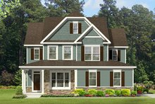 Colonial Exterior - Front Elevation Plan #1010-130
