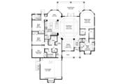 Mediterranean Style House Plan - 3 Beds 3 Baths 2529 Sq/Ft Plan #938-76 Floor Plan - Main Floor Plan