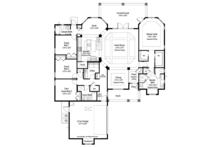 Mediterranean Floor Plan - Main Floor Plan Plan #938-76