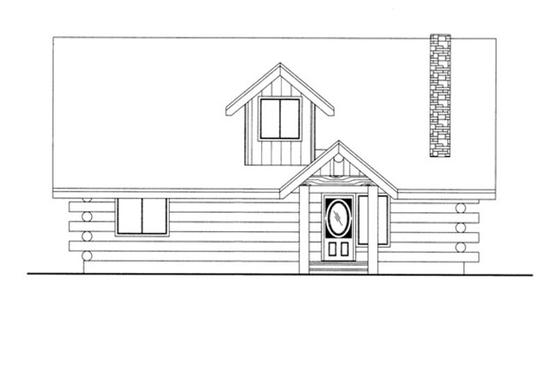 Log Exterior - Front Elevation Plan #117-824 - Houseplans.com