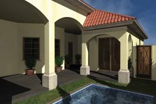 Architectural House Design - Mediterranean Exterior - Rear Elevation Plan #930-432