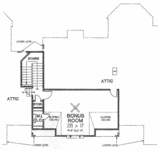 House Plan Design - European Floor Plan - Upper Floor Plan #310-503