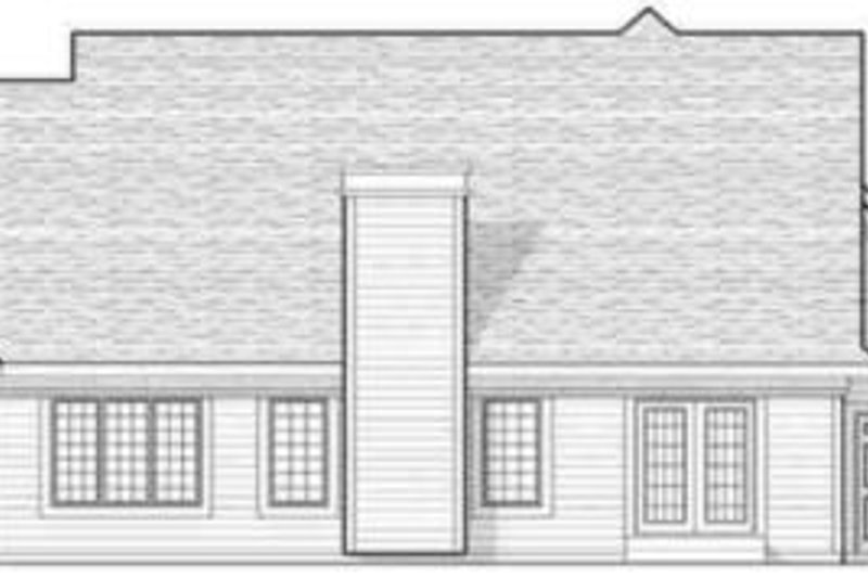Traditional Exterior - Rear Elevation Plan #70-595 - Houseplans.com