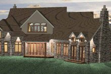 Country Exterior - Rear Elevation Plan #937-14