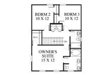 Colonial Floor Plan - Upper Floor Plan Plan #1053-63