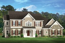 Colonial Exterior - Front Elevation Plan #1010-171