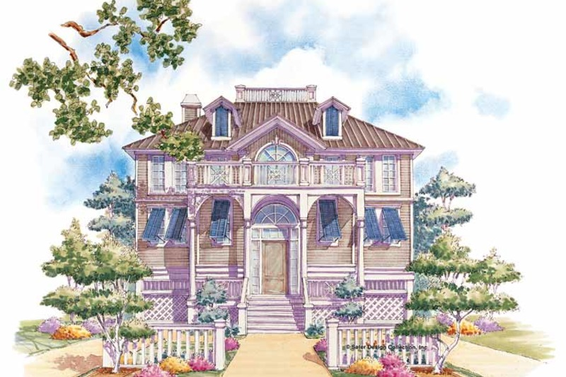 Classical Exterior - Front Elevation Plan #930-76