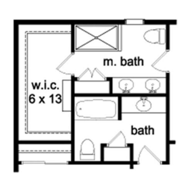 House Plan Design - Colonial Floor Plan - Upper Floor Plan #1010-46
