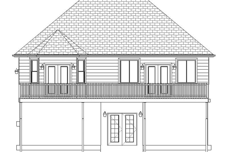 Ranch Exterior - Rear Elevation Plan #1060-5 - Houseplans.com