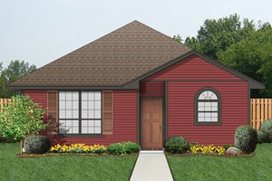 Cottage Exterior - Front Elevation Plan #84-543