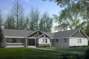 Craftsman Exterior - Front Elevation Plan #100-423
