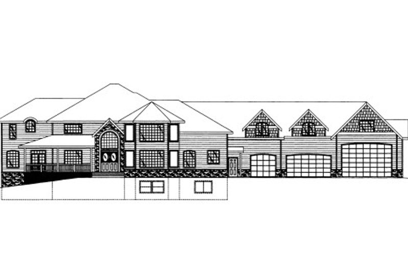 Craftsman Style House Plan - 5 Beds 5 Baths 9815 Sq/Ft Plan #117-684 Exterior - Front Elevation