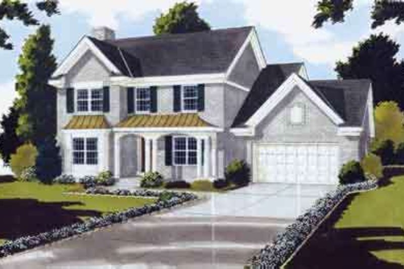 Traditional Exterior - Front Elevation Plan #46-128 - Houseplans.com