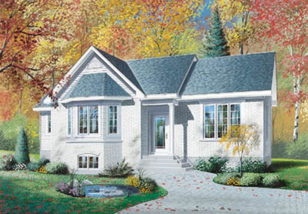 Traditional style house plan 3 beds 1 baths 1206 sq ft for Dream home source canada