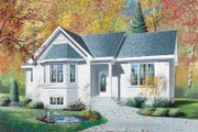 Traditional Style House Plan - 3 Beds 1 Baths 1206 Sq/Ft Plan #23-178 Exterior - Front Elevation