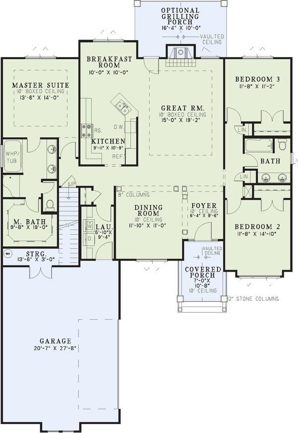 Country Floor Plan - Main Floor Plan #17-2219