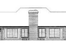 House Blueprint - Traditional Exterior - Rear Elevation Plan #72-178