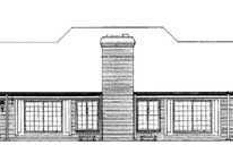 Traditional Exterior - Rear Elevation Plan #72-178 - Houseplans.com
