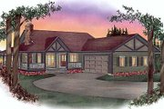 Ranch Style House Plan - 3 Beds 2 Baths 1518 Sq/Ft Plan #409-110 Exterior - Front Elevation