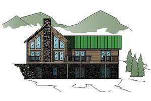 Country Exterior - Front Elevation Plan #123-105
