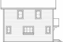 Home Plan - Contemporary Exterior - Rear Elevation Plan #23-755