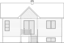 Country Exterior - Rear Elevation Plan #23-2730
