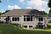 Ranch Style House Plan - 4 Beds 2.5 Baths 2106 Sq/Ft Plan #1064-82 Exterior - Rear Elevation