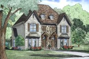 European Style House Plan - 2 Beds 2.5 Baths 1764 Sq/Ft Plan #17-2527 Exterior - Other Elevation