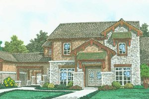 Architectural House Design - Farmhouse Exterior - Front Elevation Plan #310-1319