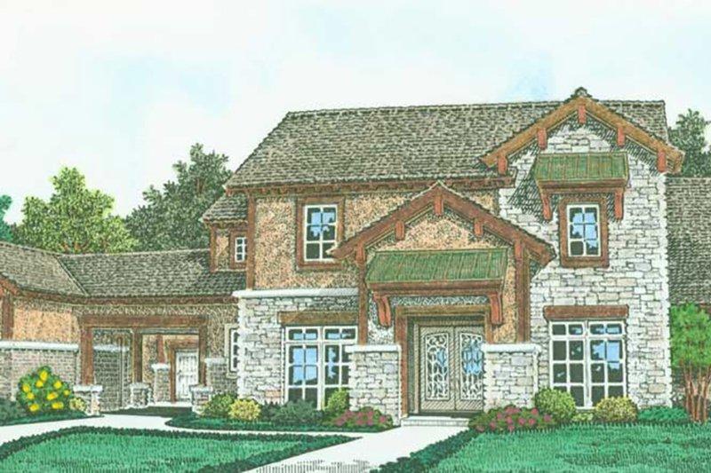 Home Plan - Farmhouse Exterior - Front Elevation Plan #310-1319