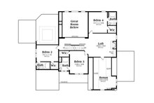 Traditional Floor Plan - Upper Floor Plan Plan #419-274