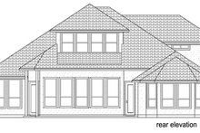 Mediterranean Exterior - Rear Elevation Plan #84-528