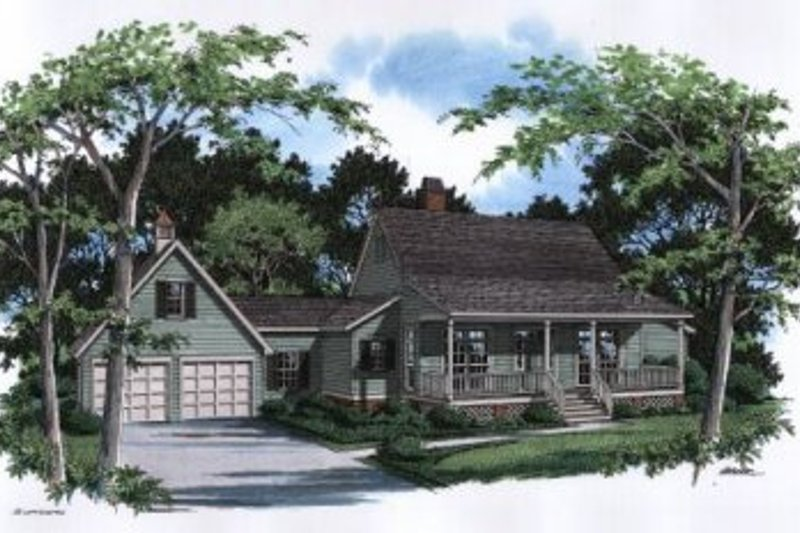 Country Exterior - Front Elevation Plan #41-122 - Houseplans.com