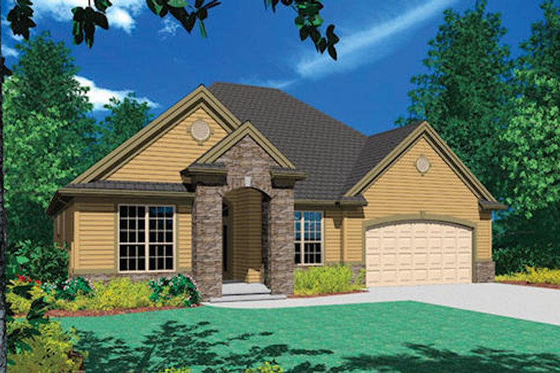 Traditional Exterior - Front Elevation Plan #48-412