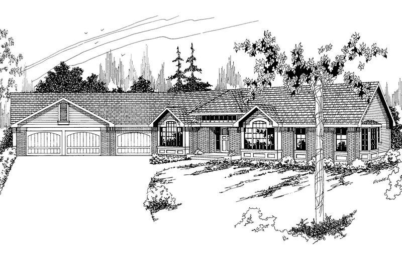 Modern Exterior - Front Elevation Plan #124-123
