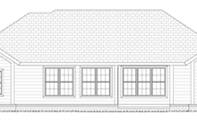 House Design - Traditional Exterior - Rear Elevation Plan #513-2156