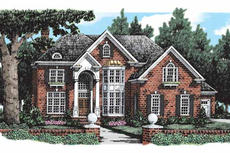 House Plan Design - Traditional Exterior - Front Elevation Plan #927-293