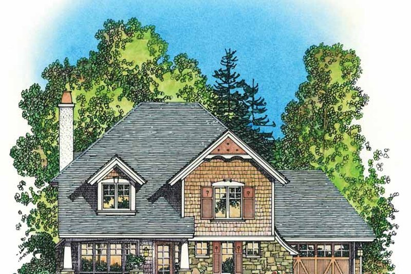 Home Plan - Victorian Exterior - Front Elevation Plan #1016-78