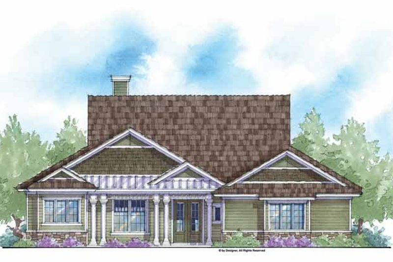 Country Exterior - Front Elevation Plan #938-46