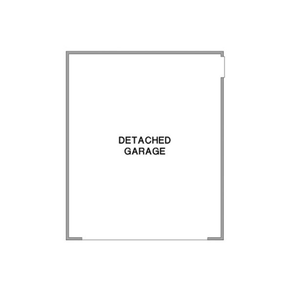 Architectural House Design - Detached Garage