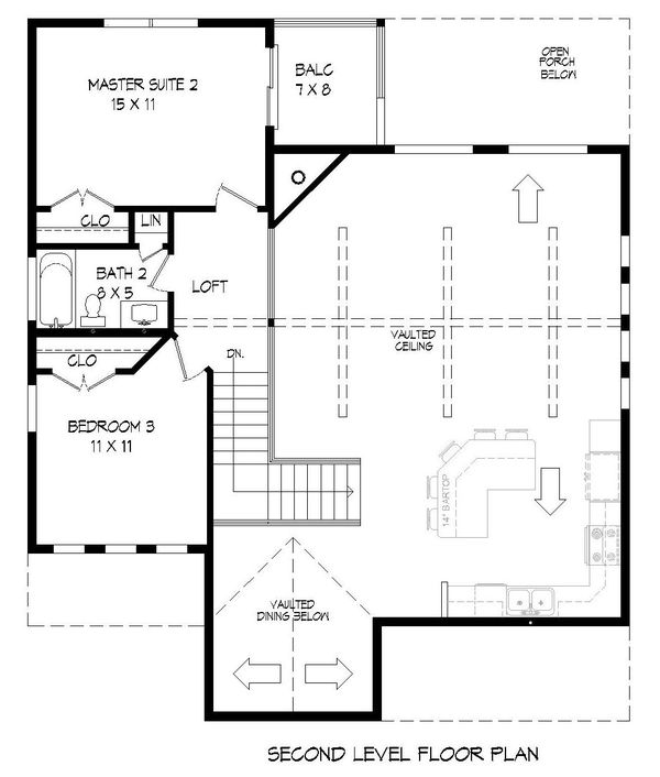 Country Floor Plan - Upper Floor Plan Plan #932-262