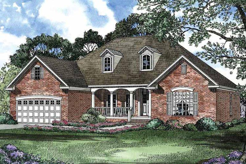 Colonial Exterior - Front Elevation Plan #17-2892 - Houseplans.com