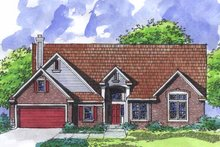 Ranch Exterior - Front Elevation Plan #320-921