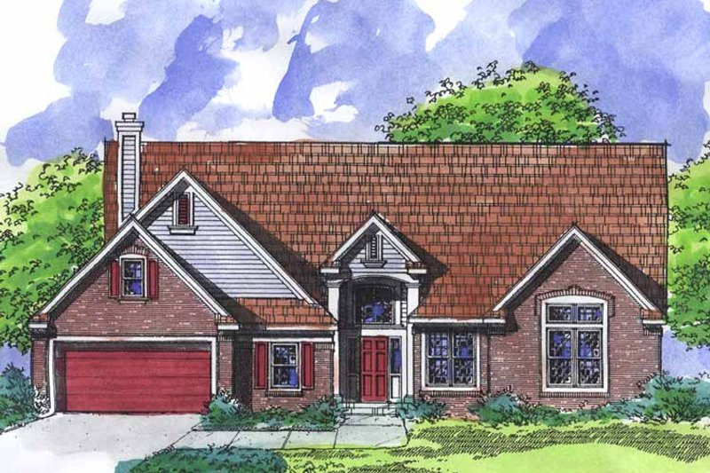 Architectural House Design - Ranch Exterior - Front Elevation Plan #320-921