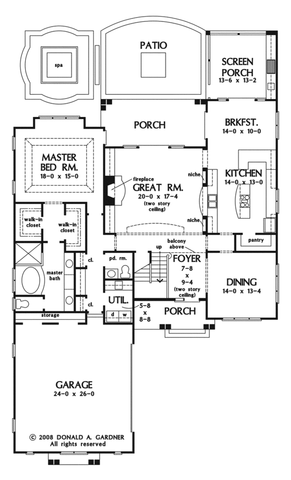 House Plan Design - European Floor Plan - Main Floor Plan #929-922