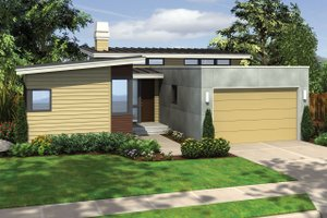 House Blueprint - 1700 square foot modern 3 bedroom 2 bath house plan