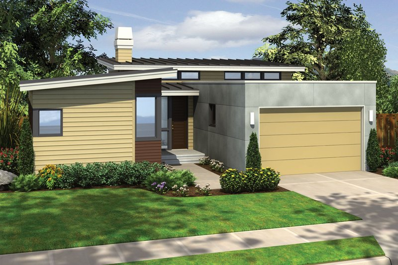 Home Plan - 1700 square foot modern 3 bedroom 2 bath house plan